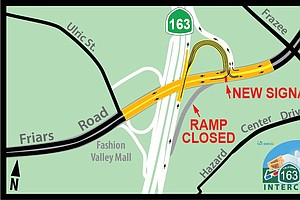 Photo for Caltrans Permanently Closing Northbound SR-163 Off-Ramp To Friars Road