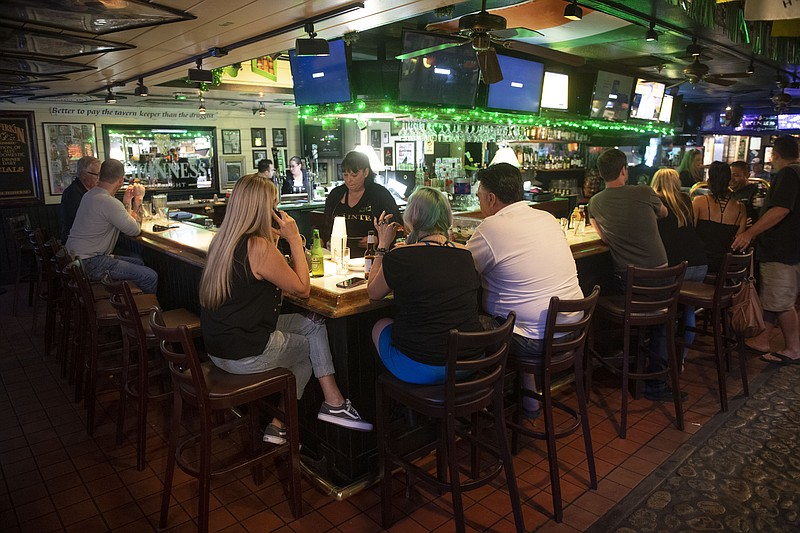 The interior of Patsy's Irish Pub in Mission Viejo is pictured in this undate...
