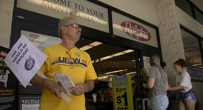 Ralphs, Vons and Albertsons workers ask customers to support them if a strike...