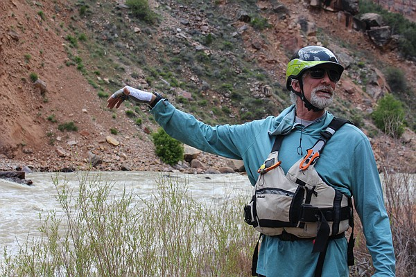 John Saunders scouts the features of the Yampa River's Bi...