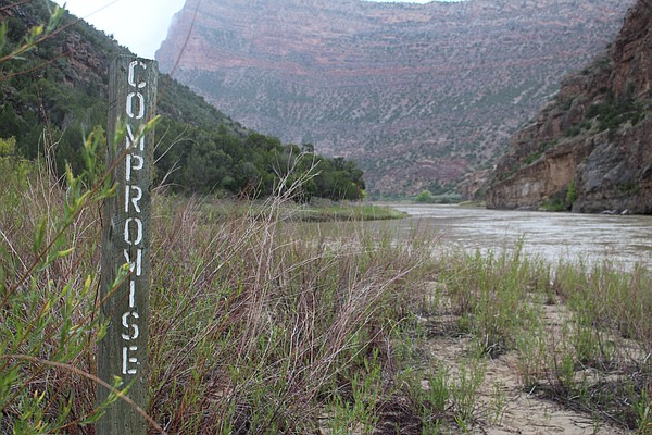 One of the last riverside campsites in Dinosaur National ...