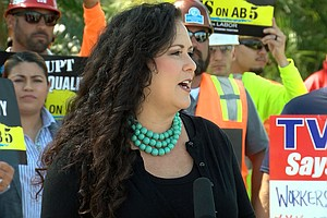 Assemblywoman Lorena Gonzalez Joins Workers Calling For P...