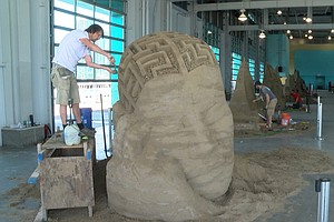 Photo for US Sand Sculpting Challenge & Dimensional Art Expo Takes Over The Broadway Pi...