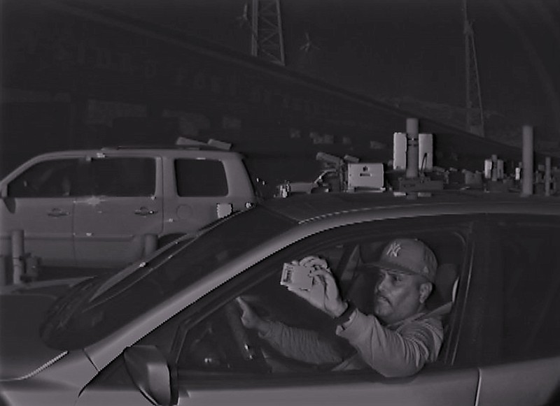 An image captured from a camera at the San Ysidro Port of Entry allegedly sho...
