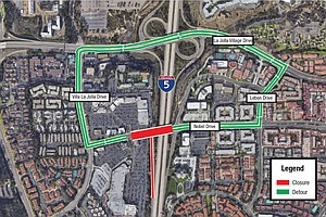 SANDAG To Close Nobel Drive To Pour Concrete For Future T...