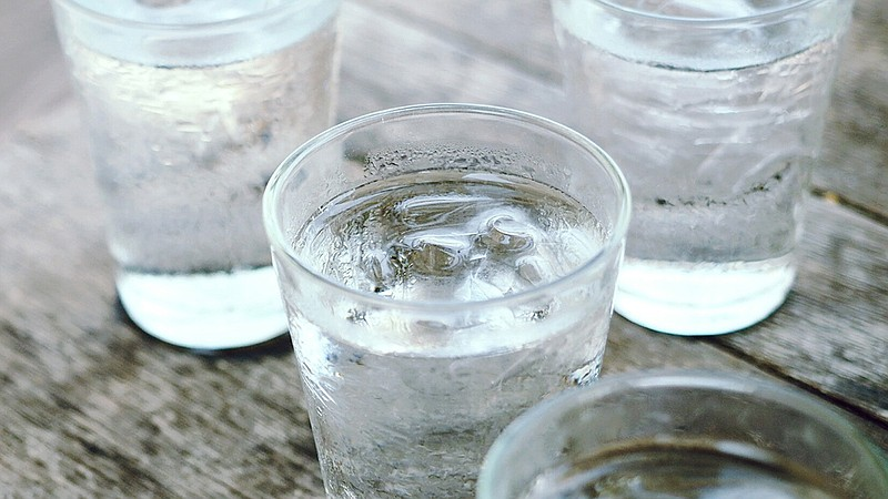 Glasses of water in an undated photo.