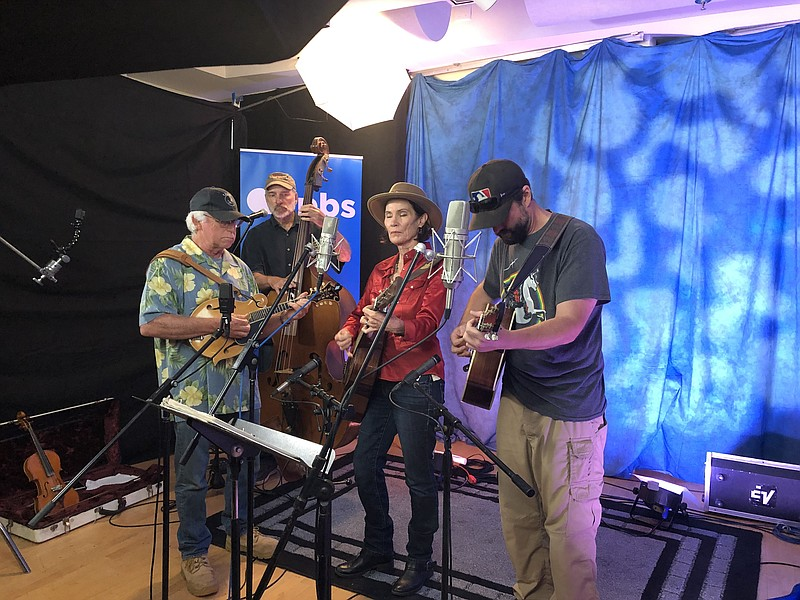 The bluegrass band Prairie Sky performs in the KPBS studio, August 20, 2019.
