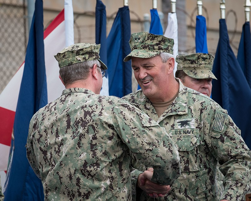 Rear Admiral Collin Green is the head of Naval Special Warfare Command, Septe...