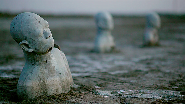 Statues. After her town is left submerged by a tsunami of...