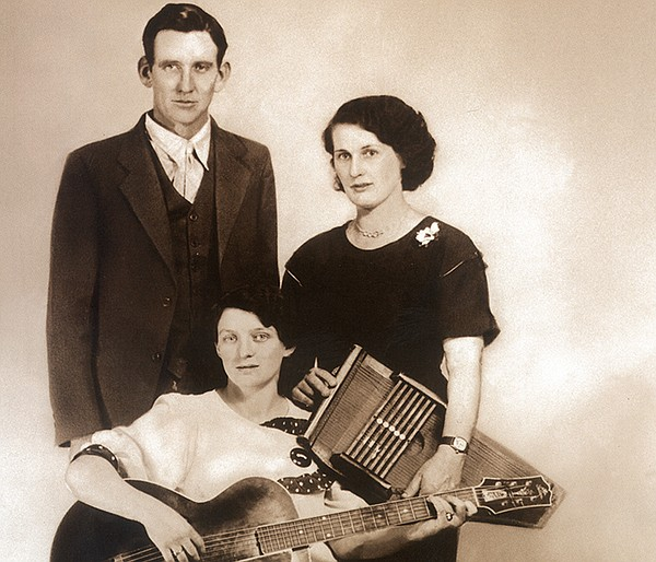 The original Carter Family, from left: AP, Maybelle and S...