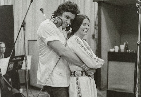 Johnny Cash and June Carter Cash, New York City, 1975.