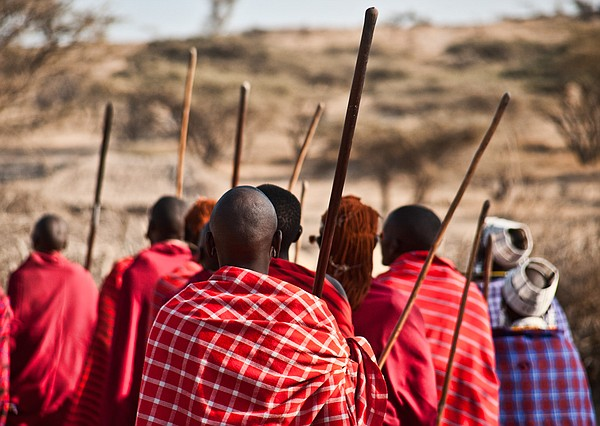 Maasai in Kenya are shown in this photograph from July 23...