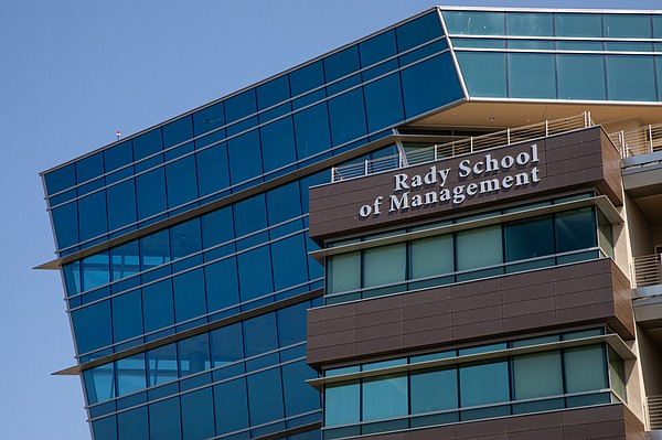 The Rady School of Management at UC San Diego is shown in...