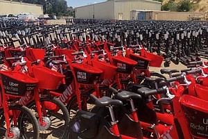 Uber Pulling Fleet Of Dockless Bikes, Scooters From San D...