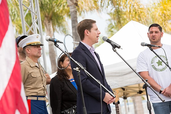 Democratic Rep. Mike Levin speaks during an Armed Forces ...