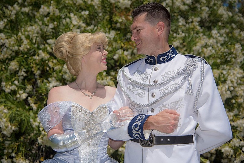Mandy Pursley and her husband, Ryan, as Cinderella and Prince Charming in thi...