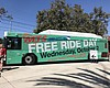 An advertisement for Free Ride Day on Oct. 2 co...