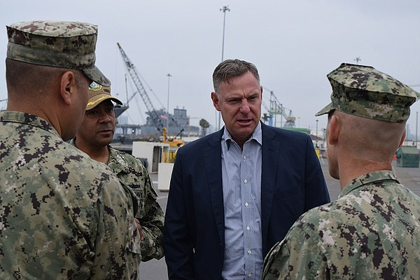 Democratic Rep. Scott Peters visits the Littoral Combat S...