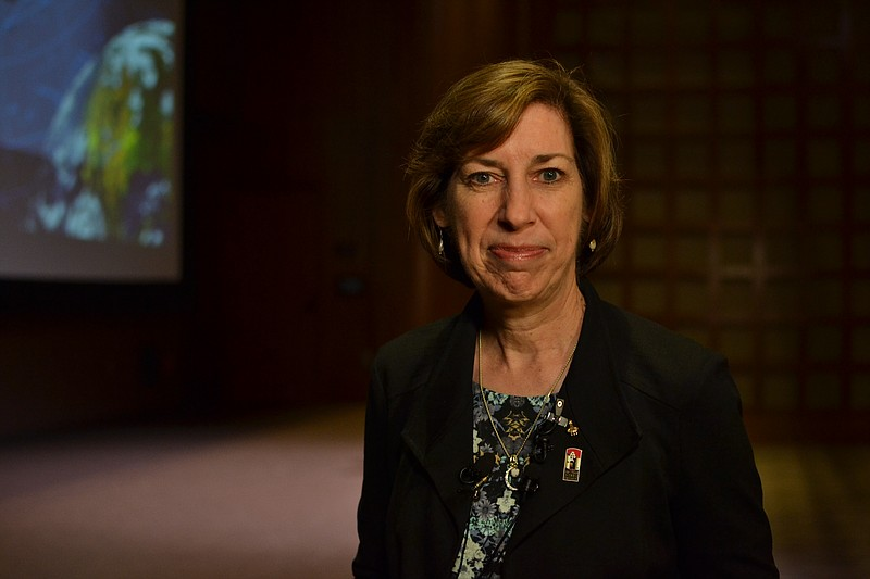 Dr. Ellen Ochoa visited San Diego State University, so that she could receive...
