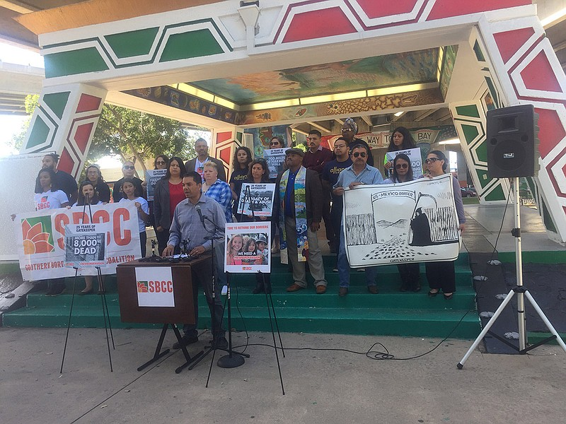 Immigrant advocates hold a press conference marking the 25h anniversary of
