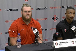 Photo for SDSU Football Players Cheer New Collegiate Pay Law While Expert Warns Of Chaos