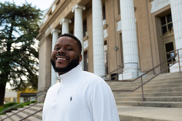 Stockton Mayor Michael Tubbs, 29, stands in front of city...