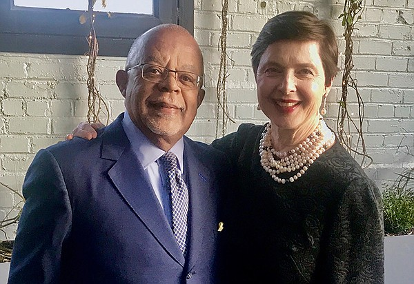 Host Henry Louis Gates, Jr. with actress Isabella Rossell...