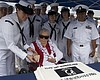 Sybil Stockdale, widow of Adm. James B. Stockda...