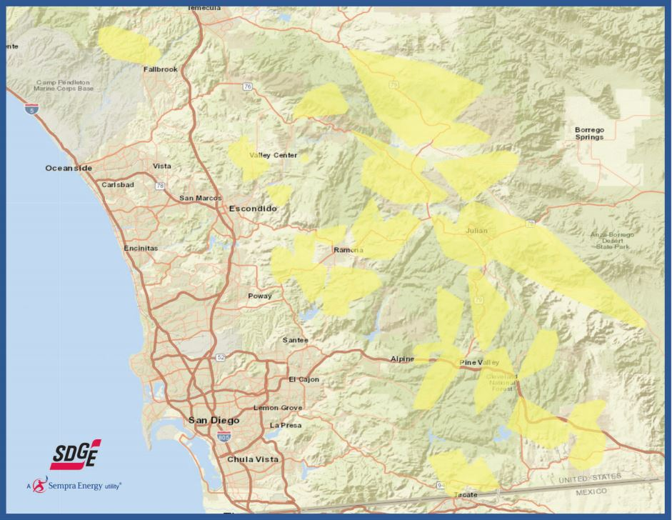 SDG&E Lowers Number Of Customers Affected By Potential Outage