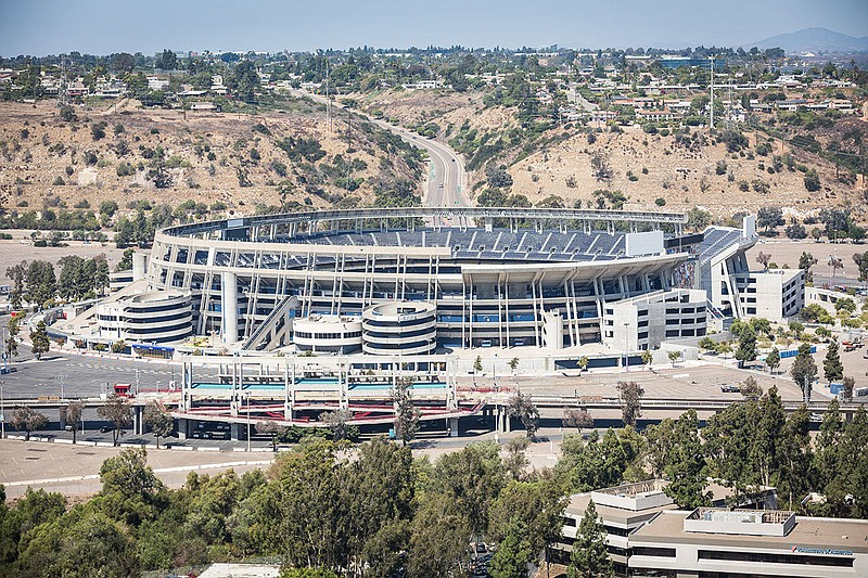 SDCCU Stadium is shown in this undated photo.