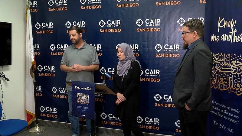 Imam Taha Hassane, Director of the Islamic Center of San Diego, Aleena Jun Na...