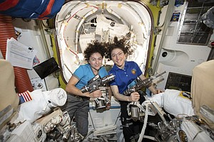 Photo for UCSD Alumna Jessica Meir Participates In First All-Female Spacewalk