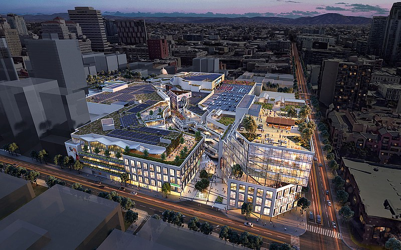 The proposed tech hub space at Horton Plaza is shown in this undated rendering.