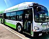 A new battery-powered bus sits in the MTS bus y...