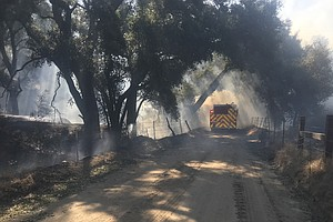 Photo for Cal Fire Crews Tackle Ramona Fire