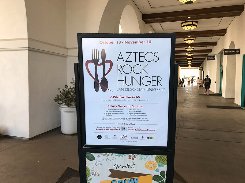 San Diego State University's food drive
