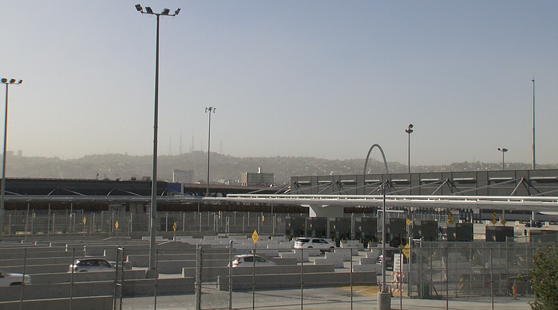 The southbound inspection lanes at the San Ysidro Port of Entry on October 25...