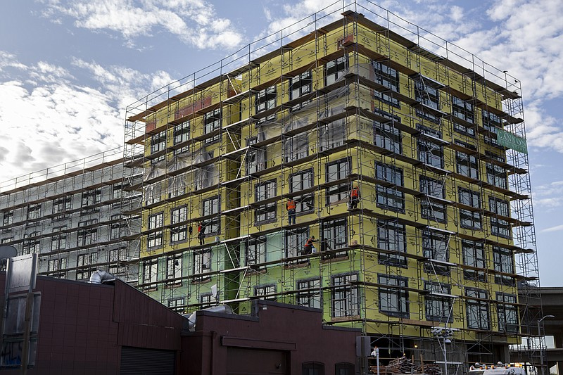 A Factory OS apartment building in West Oakland that was erected in 10 days i...
