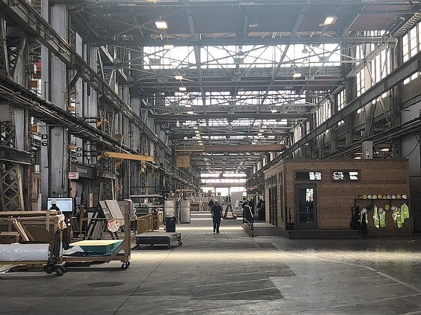 Inside the 258,000 square foot Factory OS plant in Vallej...