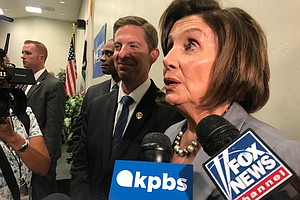 Photo for Discussing Ethics In Politics, Pelosi Attends Forum With San Diego Rep. Mike ...