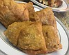 Veggie samosas stuffed with potatoes, peas and ...