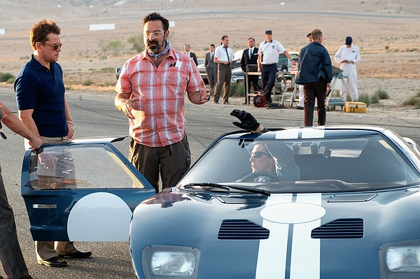 Director James Mangold (center) on the set of