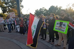 Photo for Iraqi-Americans In El Cajon Plead For International Support Of Iraqi Protesters