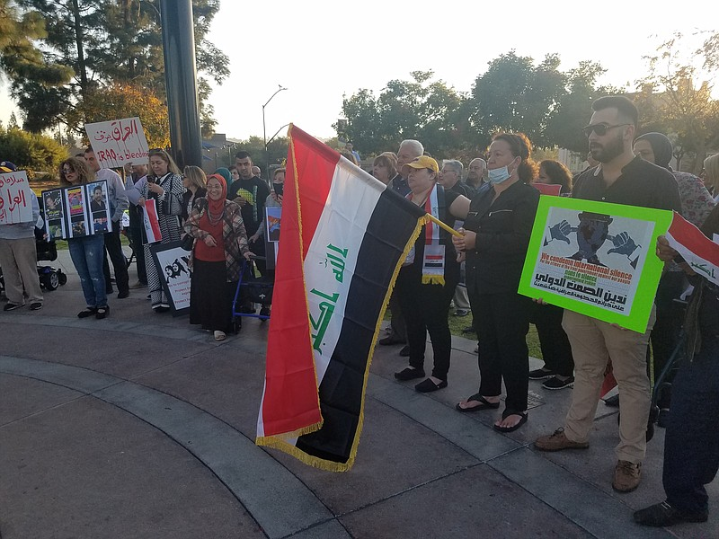 Iraqi-Americans in El Cajon call for the international community to support p...