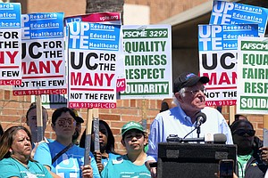 UC Service, Patient-Care Workers Hold One-Day Strike Stat...