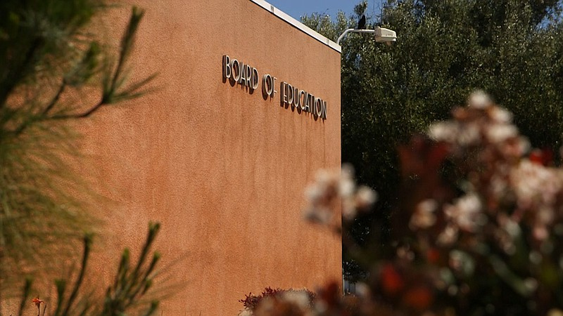 The outside of the Board of Education building for the San Diego Unified Scho...