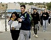 Students are escorted out of Saugus High School...