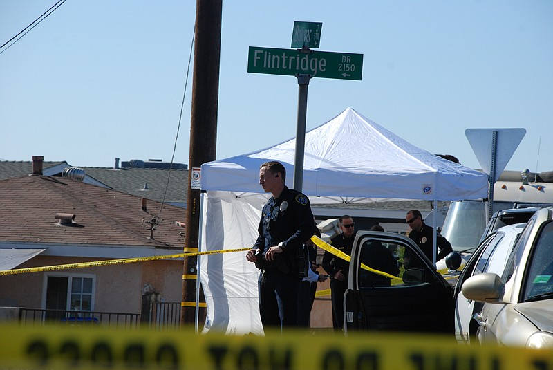 San Diego police at the scene of a murder-suicide where two adults and three ...