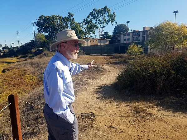 Jim Peugh walks the trails in the Famosa Slough in Point ...