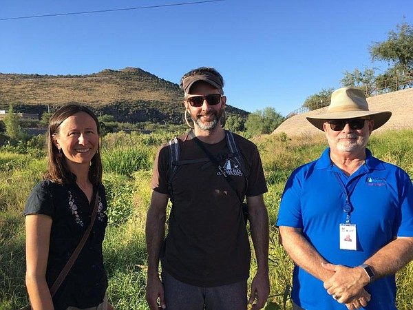 From left to right, ecologist Claire Zugmeyer, aquatic ec...
